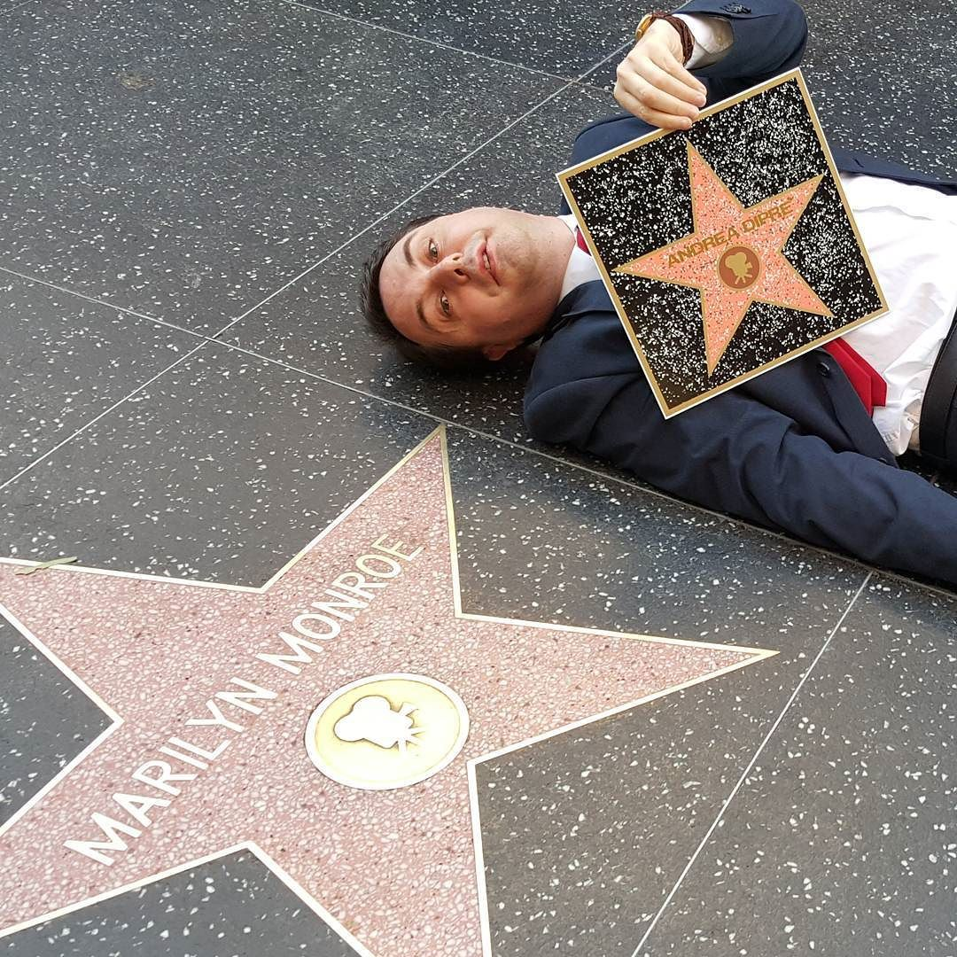 #AndreaDipré Andrea Dipré: My star next to that of Marilyn Monroe ⭐️⭐️ #hollywood #walkoffame #marilynmonroe #star #dipre #andreadipre #dipreism