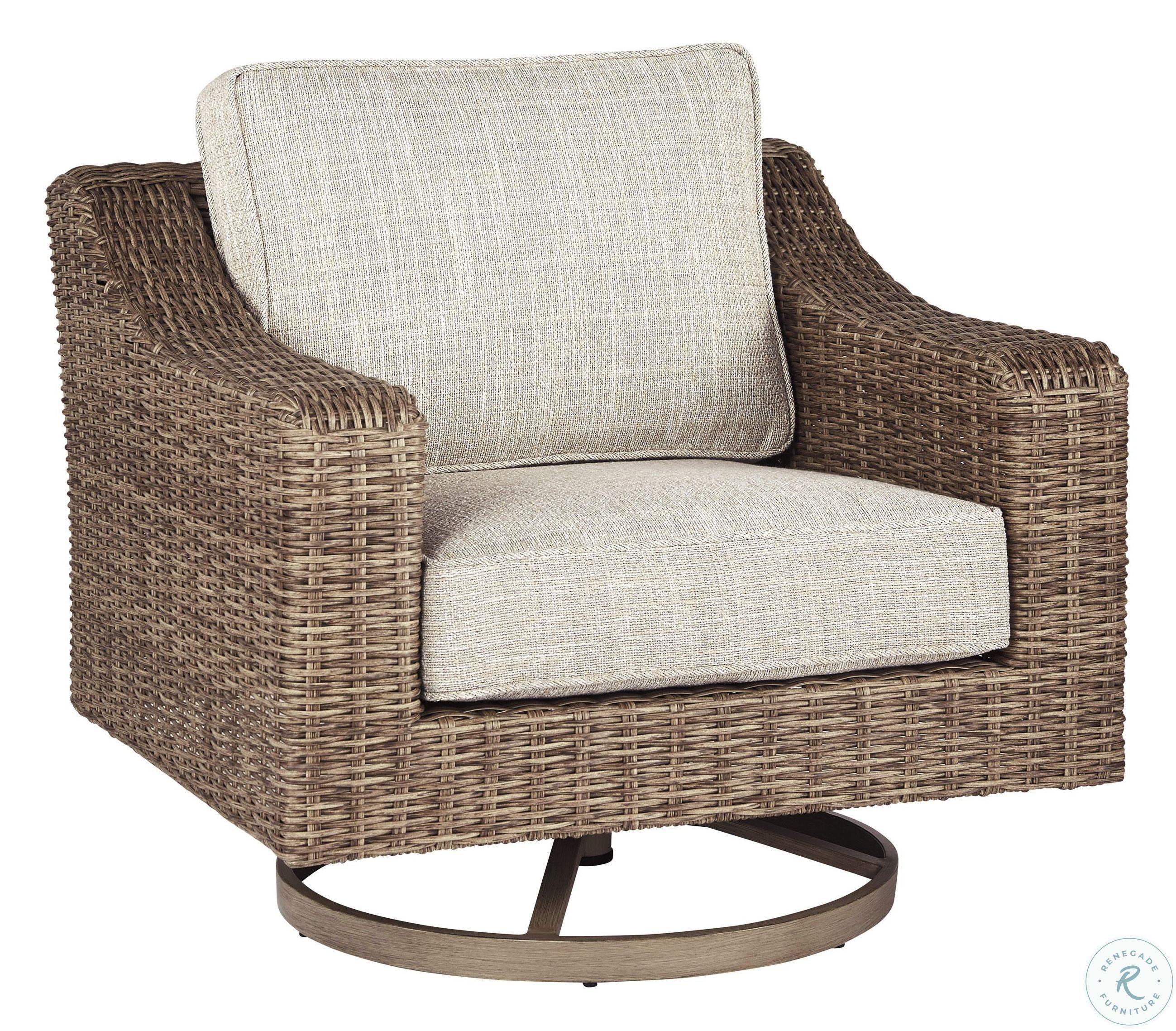 Beachcroft Beige Outdoor Swivel Lounge Chair - ASL-P791 ... on Beachcroft Beige Outdoor Living Room Set id=55460