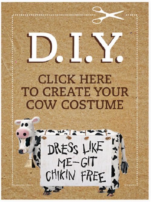 graphic regarding Cow Appreciation Day Printable Costume known as Cow Gown No cost Down load Kiddo Entertaining Cow appreciation working day