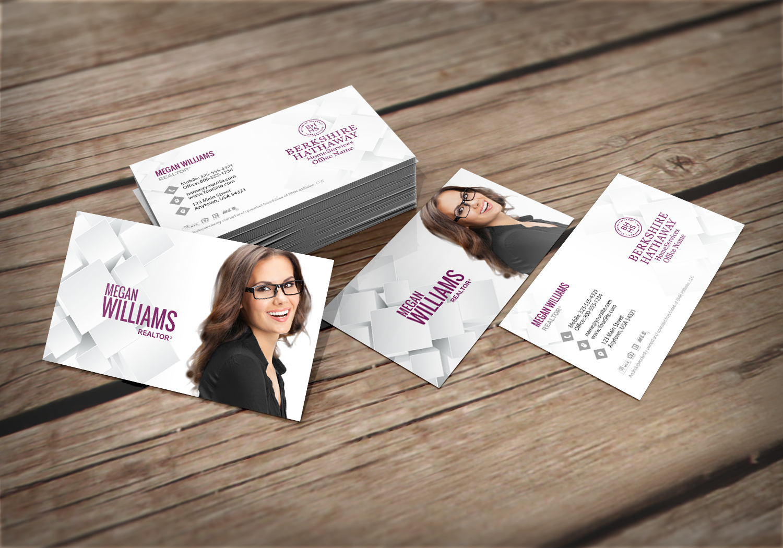 We Ve Got New Berkshire Hathaway Business Cards Realtor Berkshirehathaway Realestate Realt Free Business Cards Glossy Business Cards Business Cards Online