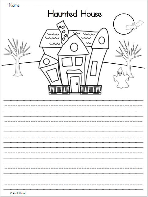 writing page write about the haunted house picture the is a   writing page write about the haunted house picture the is a fun halloween writing activity for students ask students to add one more thing to the