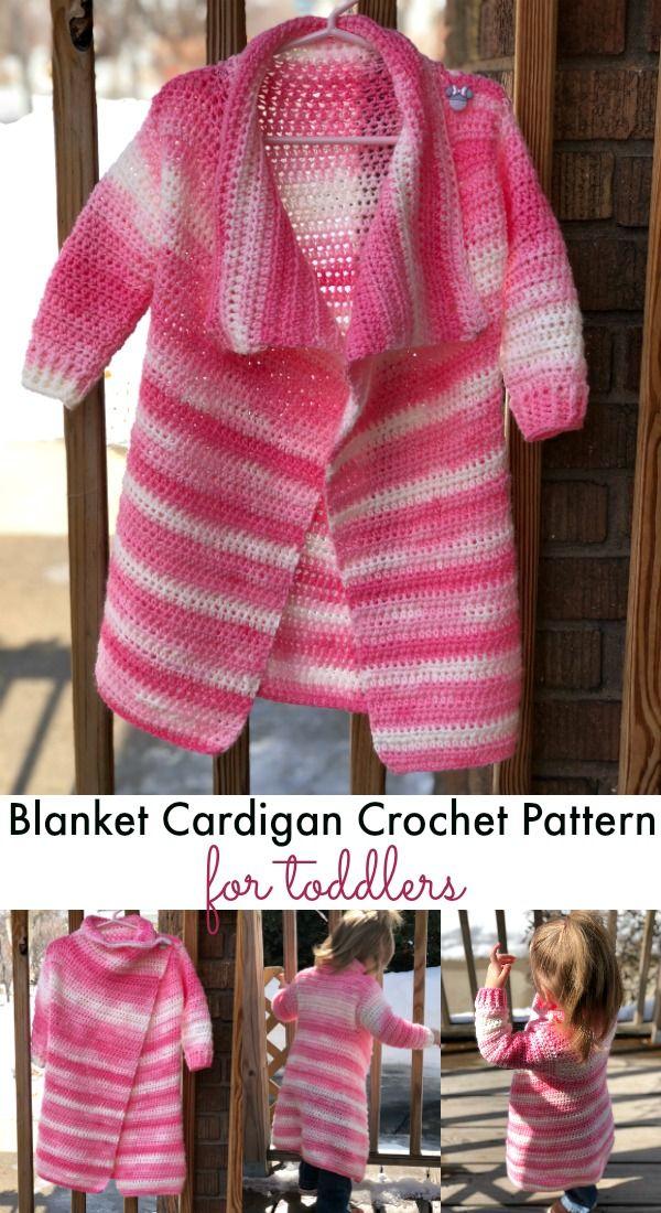 Toddler Size Blanket Cardigan - Free Crochet Pattern   Pinterest ...