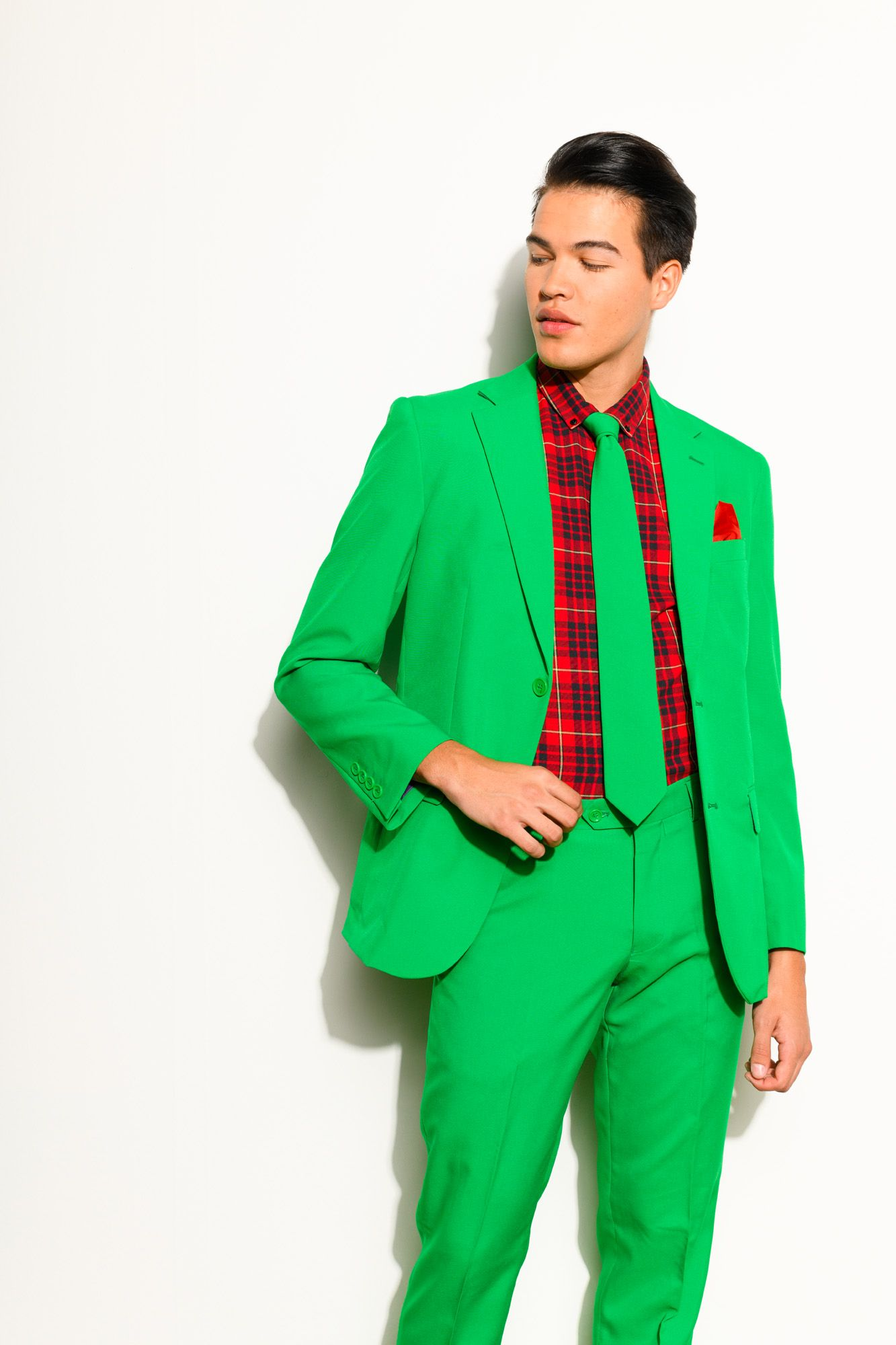 8e3f9096b7a81 Men's Evergreen suit in a solid green color. Great for Thanksgiving and the  holidays.