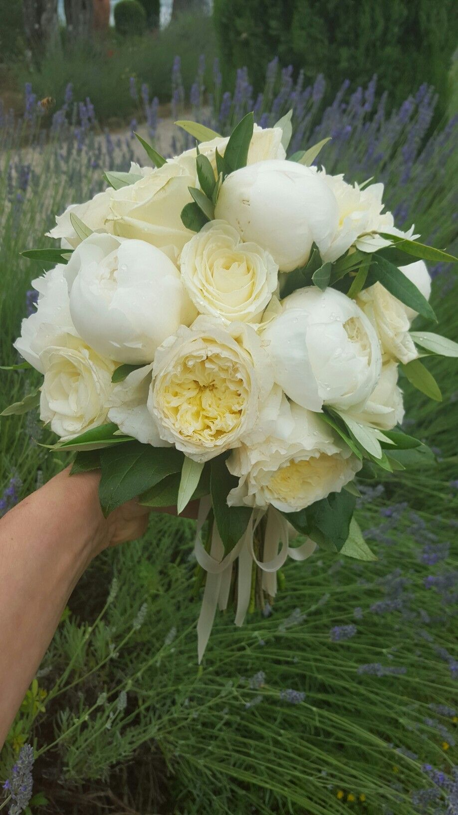 Bouquet Sposa In Inglese.Olivo Peonie Rose Inglesi Peonie Rosa Peonie Rose Inglesi