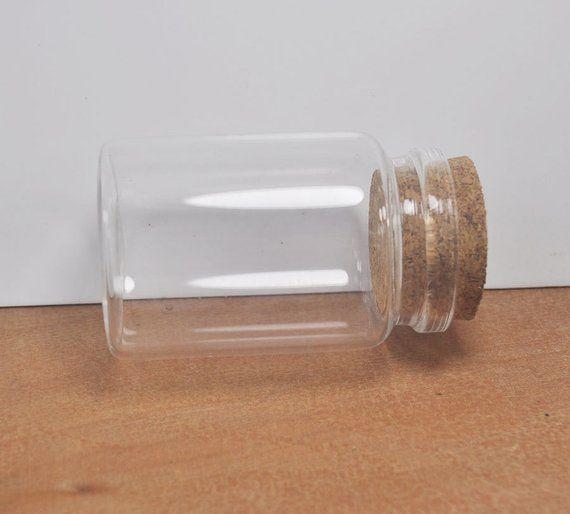 1pcs Large Glass Bottle Pendant Craftglass Bottles With Corksclear