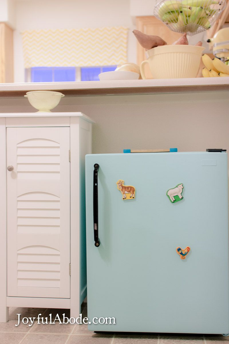 Montessori Toddler Kitchen (and Mini Fridge Makeover | Toddler ...