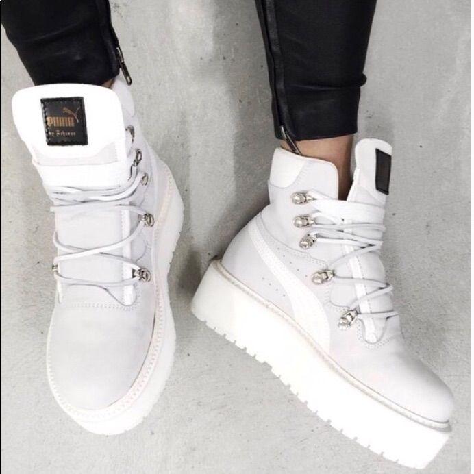 Rihanna FENTY PUMA White sneaker boot