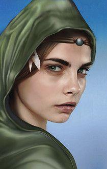 Female Half Elf Ranger Baldur S Gate Portrait By Ulben