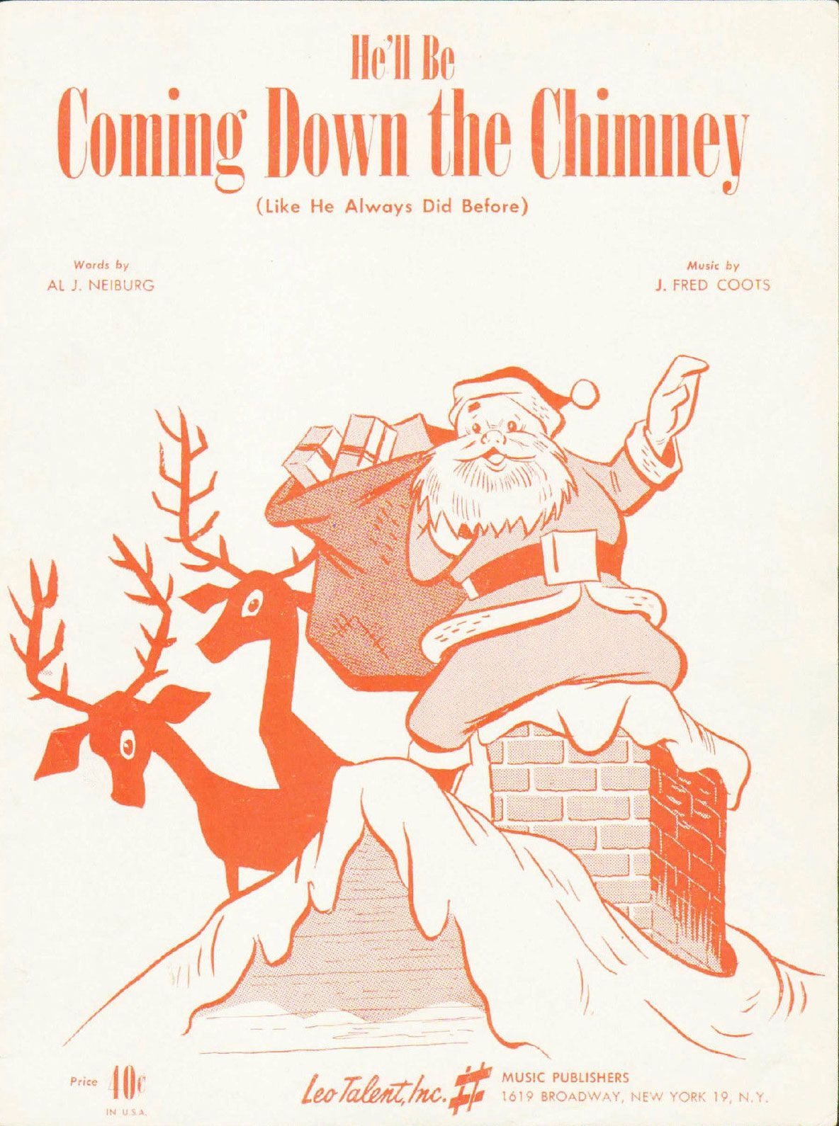 J. Fred Coots - He\'ll Be Coming Down the Chimney (1951) | Jolly Old ...