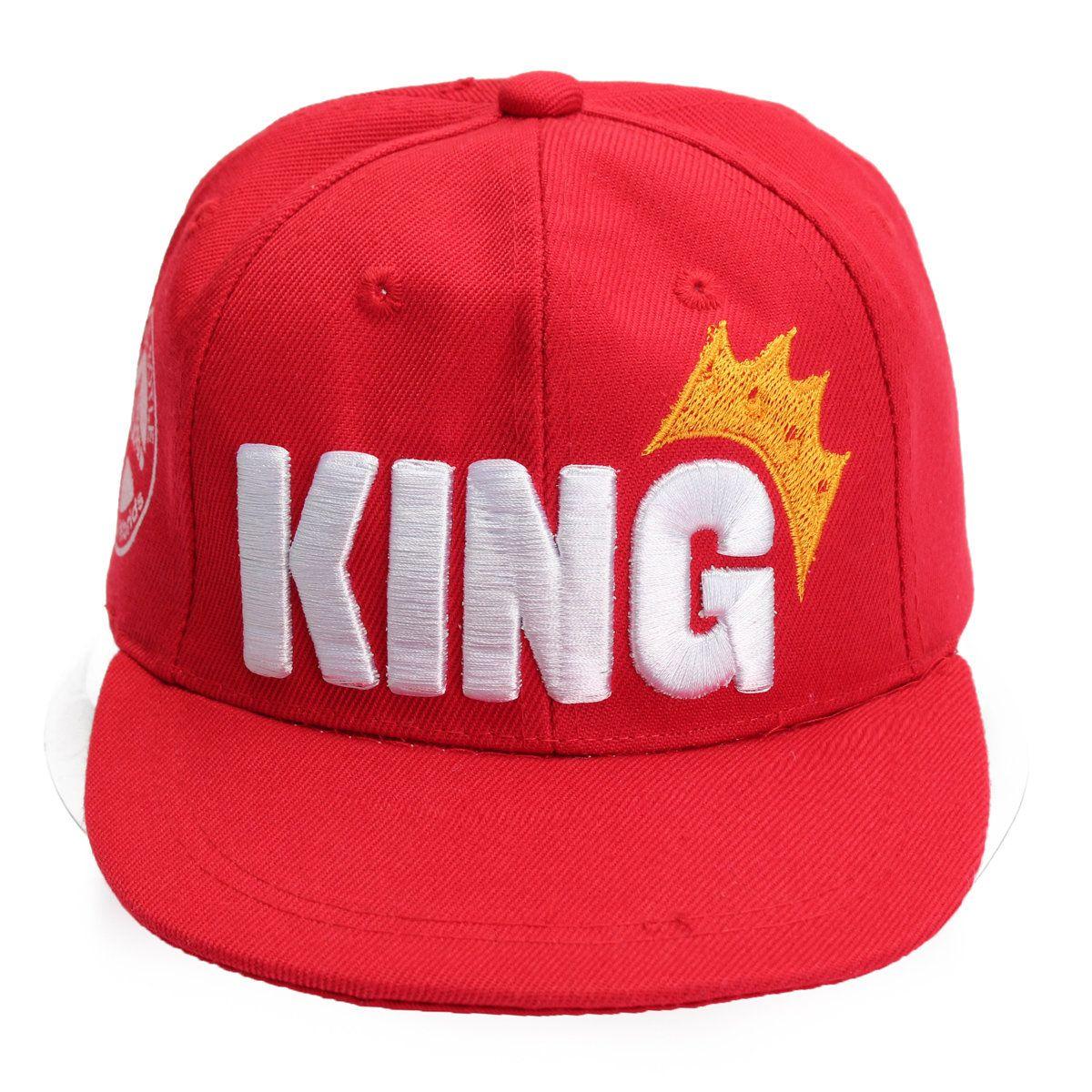 4c7e70fe01d Children King Crown Flat Brimmed Baseball Cap Adjustable Embroidered  Boy Girl Hip Hop Hat Snapback