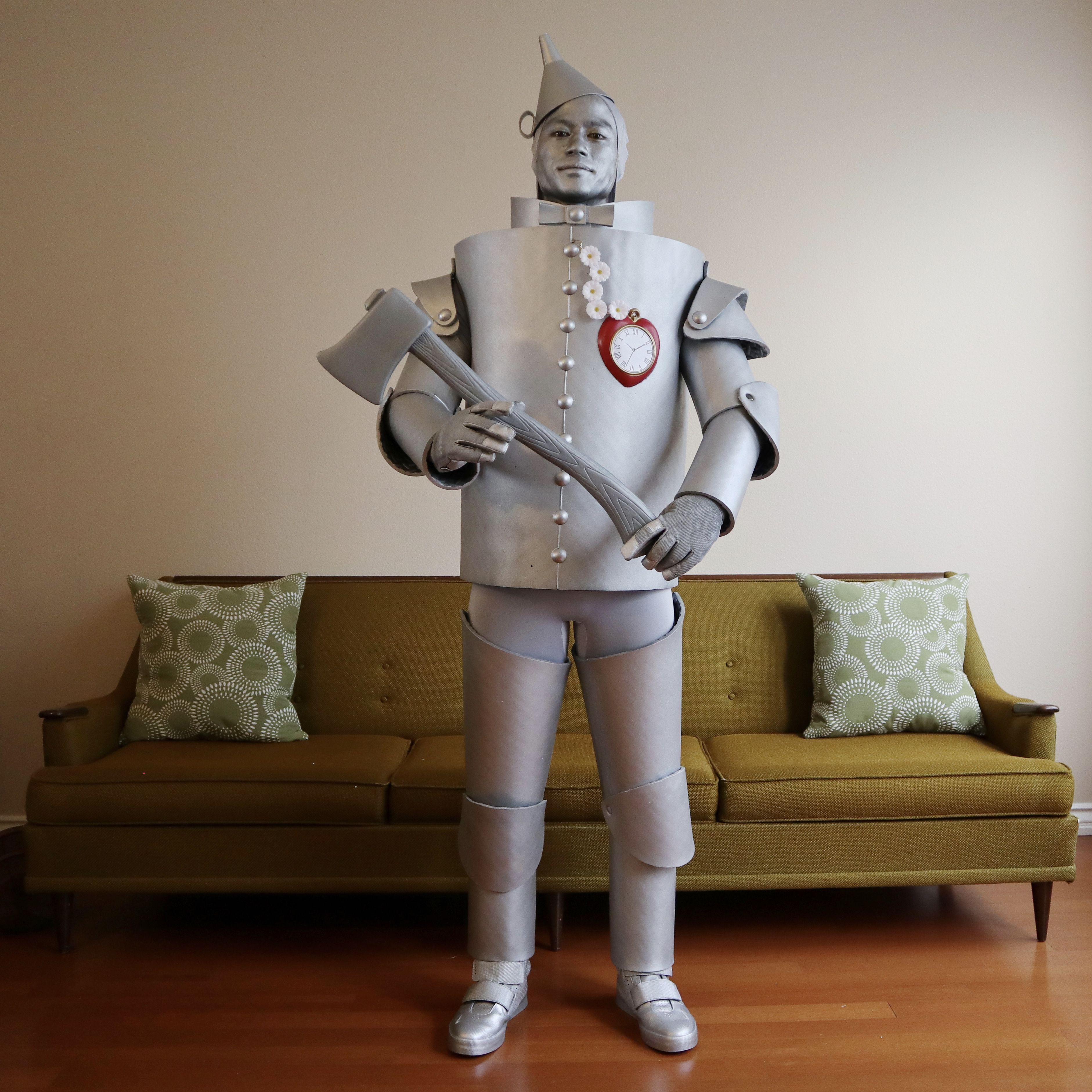 Tinman Costume Diy Costumes Kids Tin Man Halloween Costume Diy Tin Man Costume