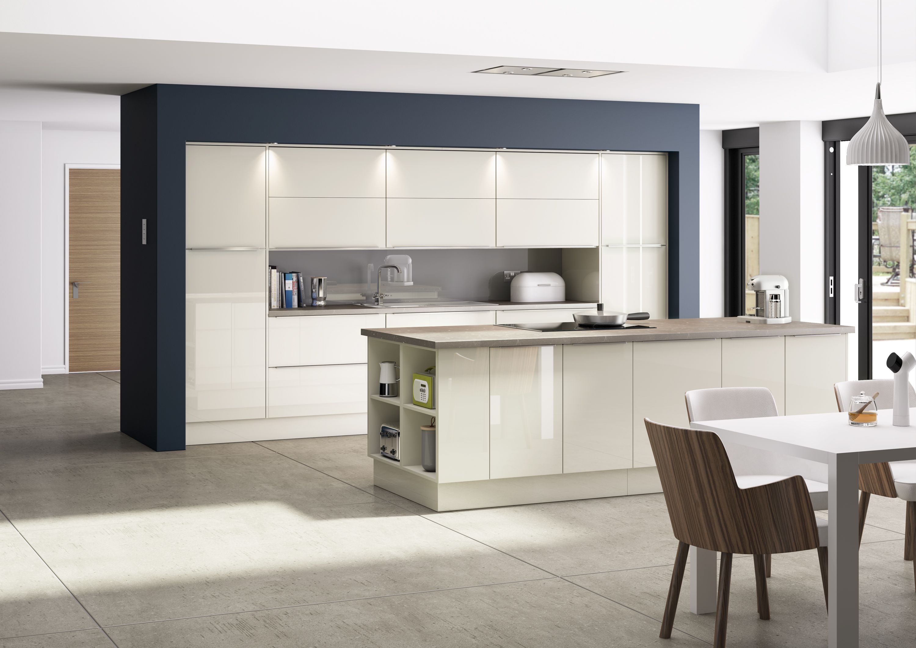 Inline Gloss Ice Ivory | Whitecroft Kitchen | Pinterest | Inline ...