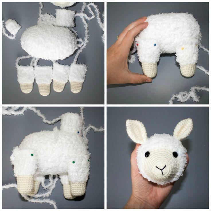 Crochet Llama Pattern #stuffedtoyspatterns
