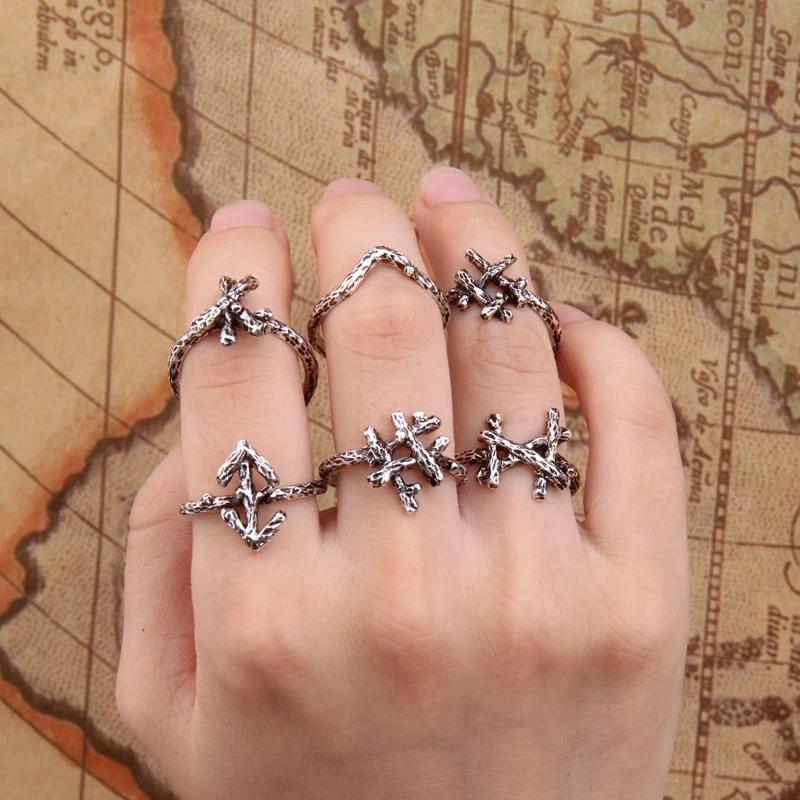Viking Norse Rune Rings Jewelry tattoo, Viking wedding