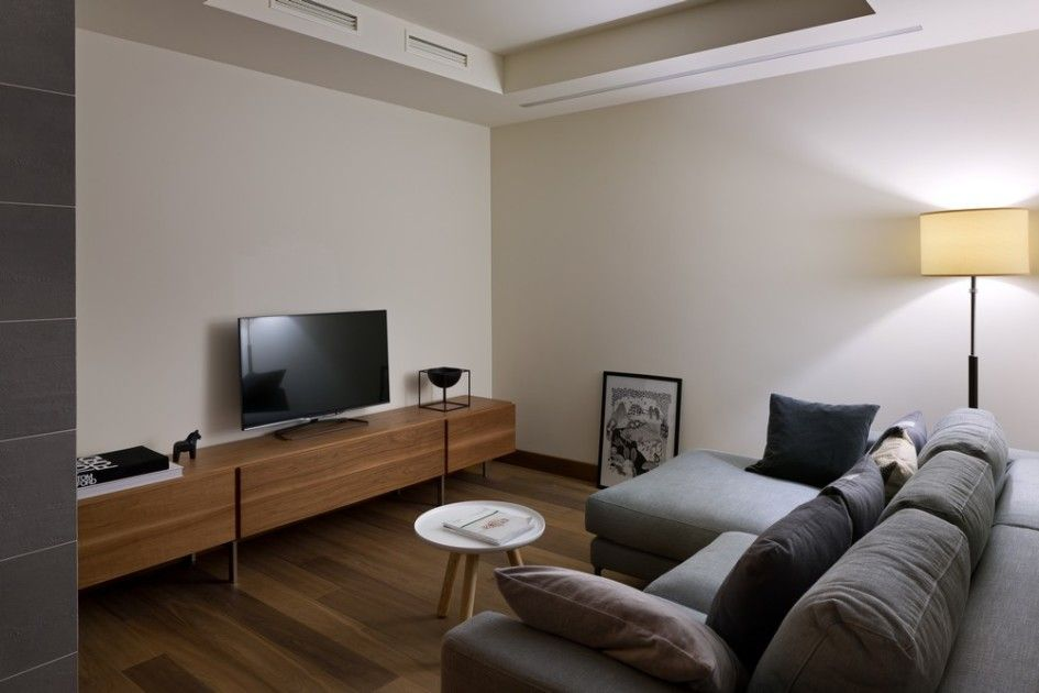 Home U0026 Apartment, Small Living Room Decoration In Apartment Using Minimalist  Wooden Tv Cabinet And