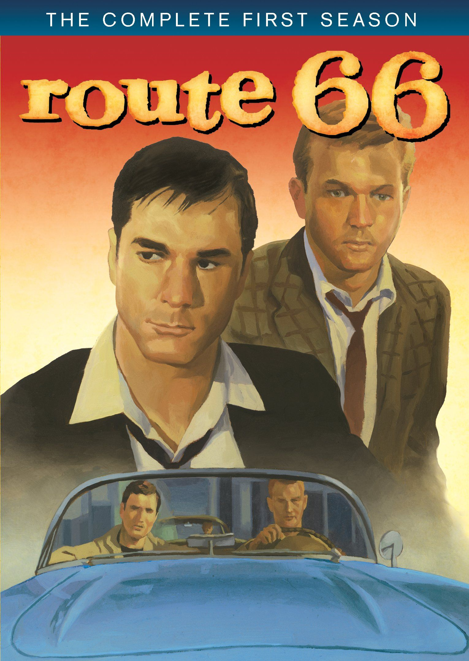"artwork for the dvd of ""route 66"" -- the classic tv series (with"