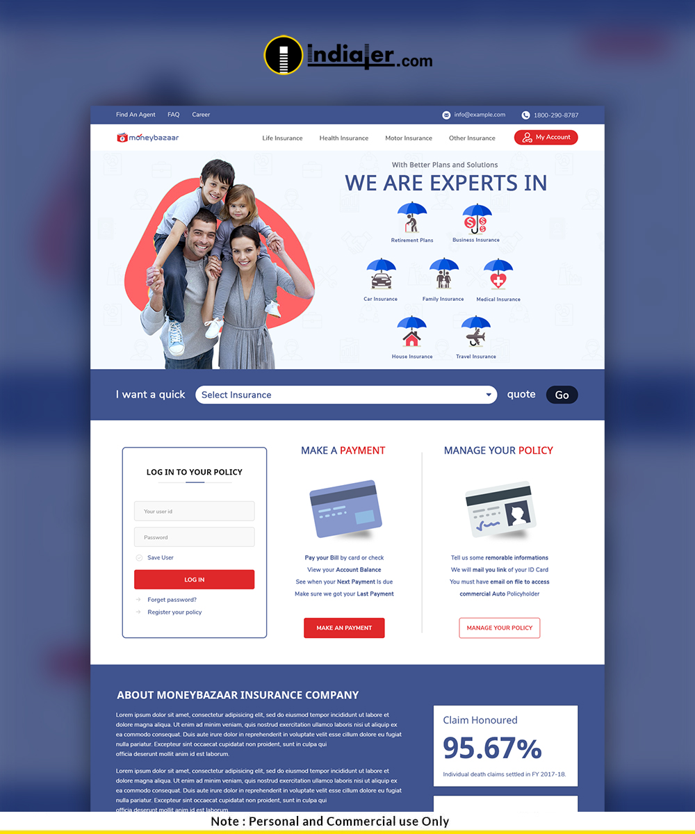 Insurance Website Template For Insurance Agency Insurance