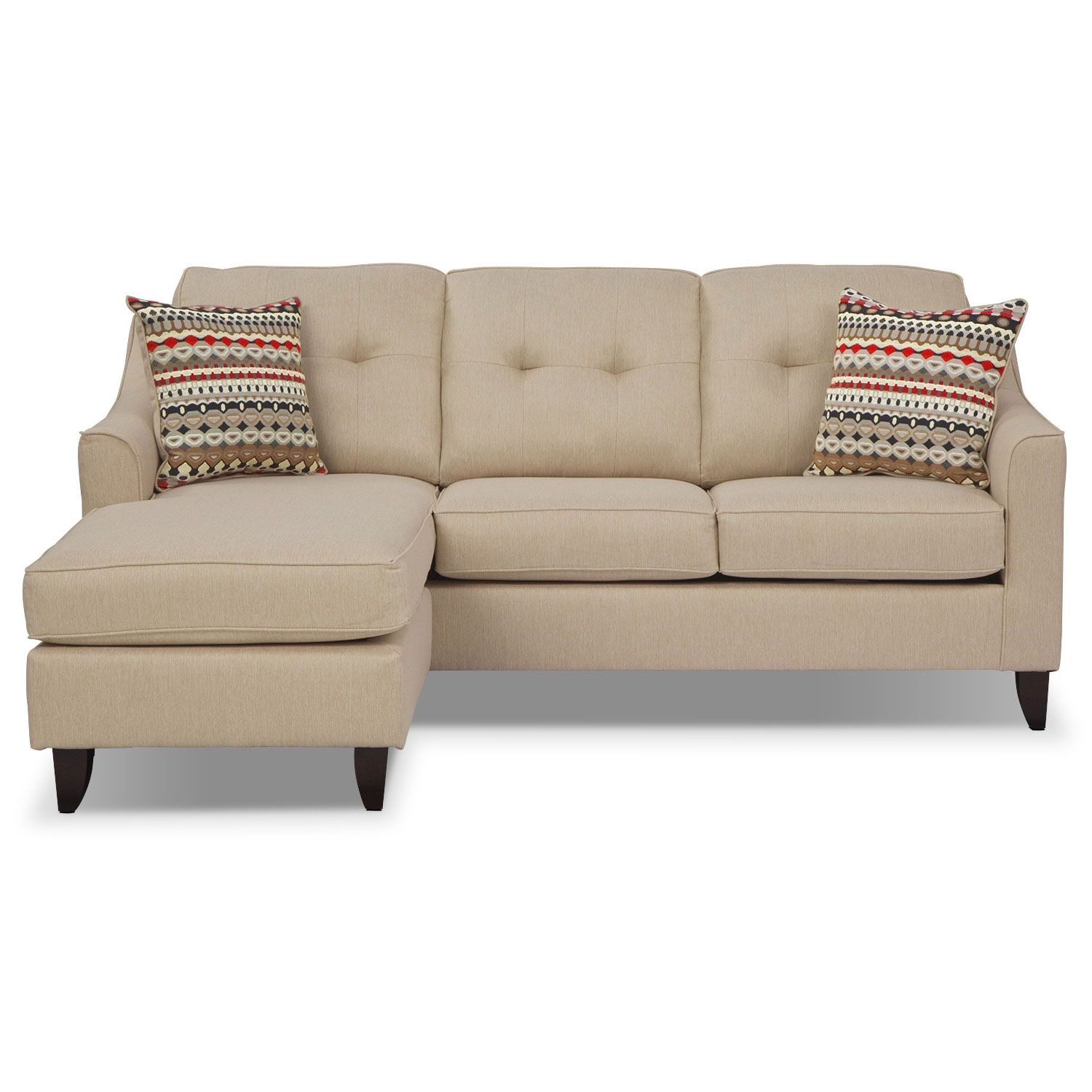 Marco Cream Chaise Sofa Value City