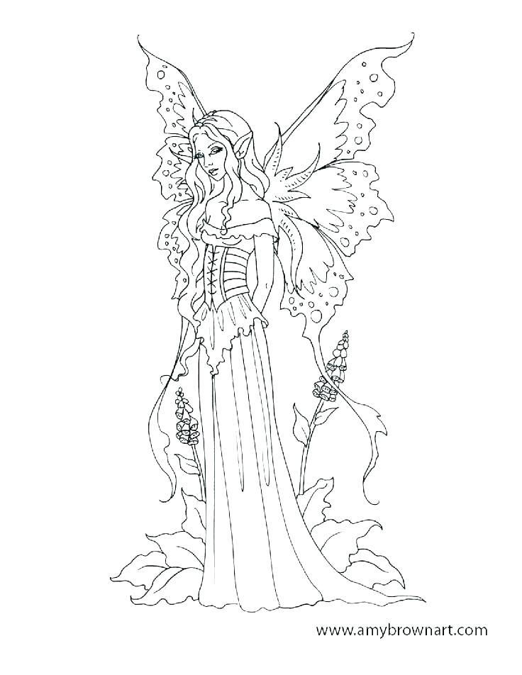 Fairy Princess Coloring Mesmerizing Fairy Coloring Pages Fairy Coloring Dragon Coloring Page