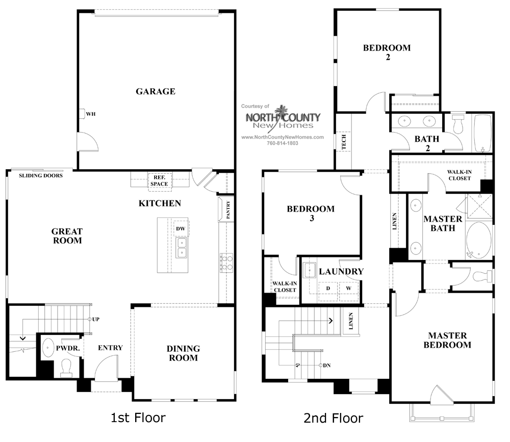 San Diego Apartments For Sale: Ivy Floor Plan 1 - New Homes In Carmel Valley