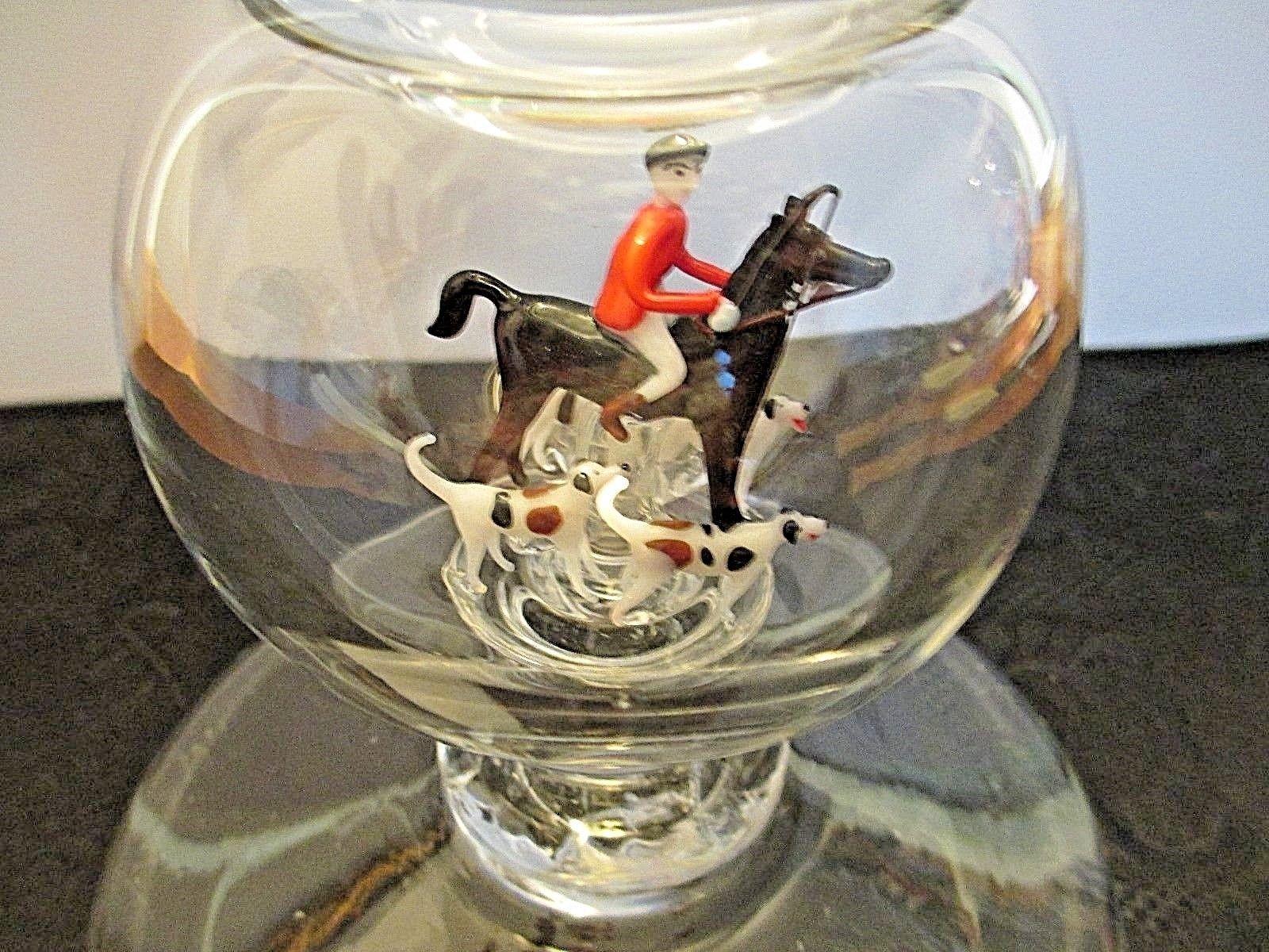 Rare Stevens Williams Art Glass Vase 1936 Handmade Lampwork Fox