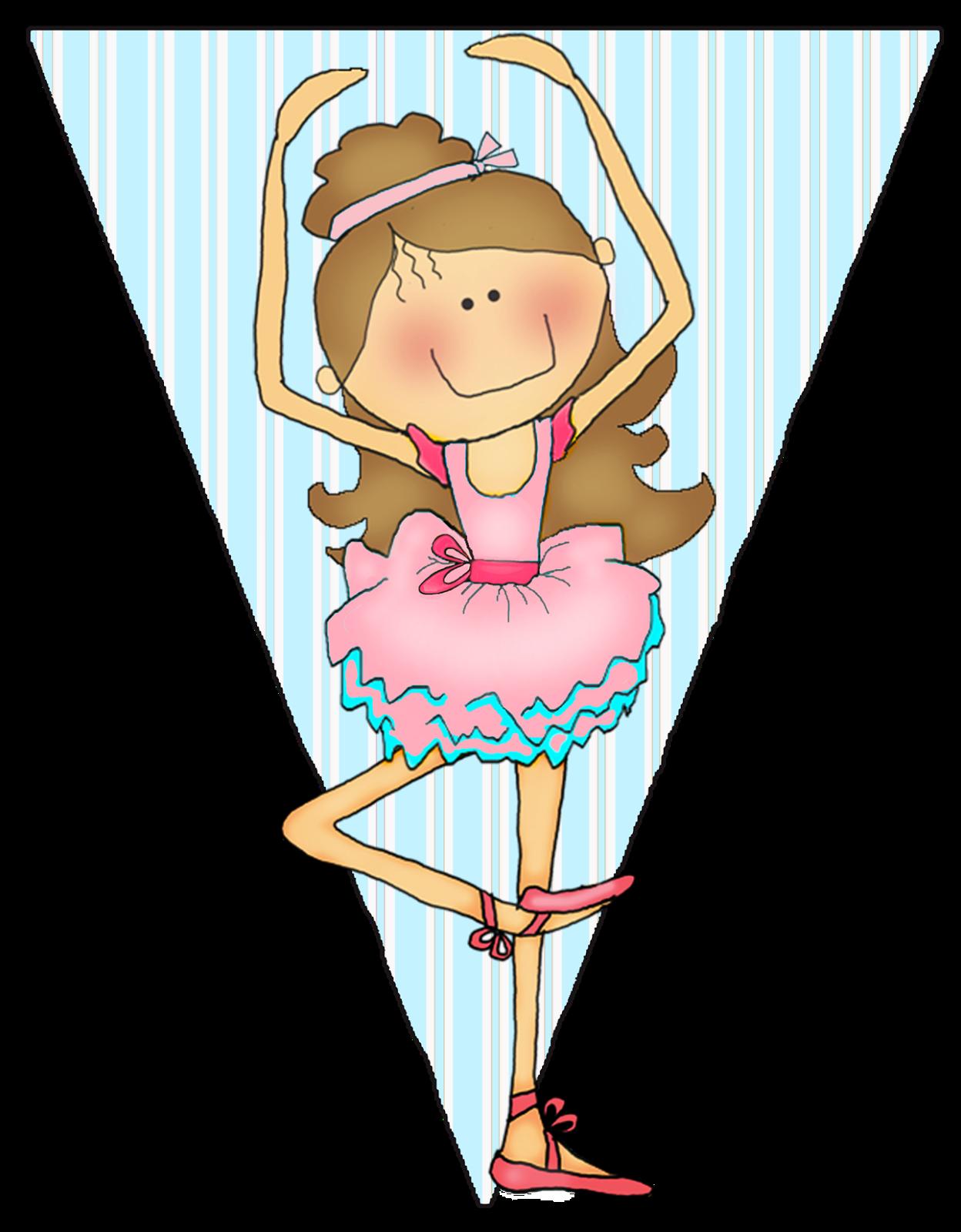 Banderines para Fiesta de Ballet, para Imprimir Gratis ...