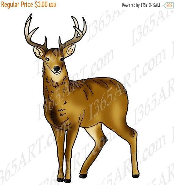 beautiful deer with antlers nature animal clipart digital rh pinterest co uk deer clipart images deer clipart free