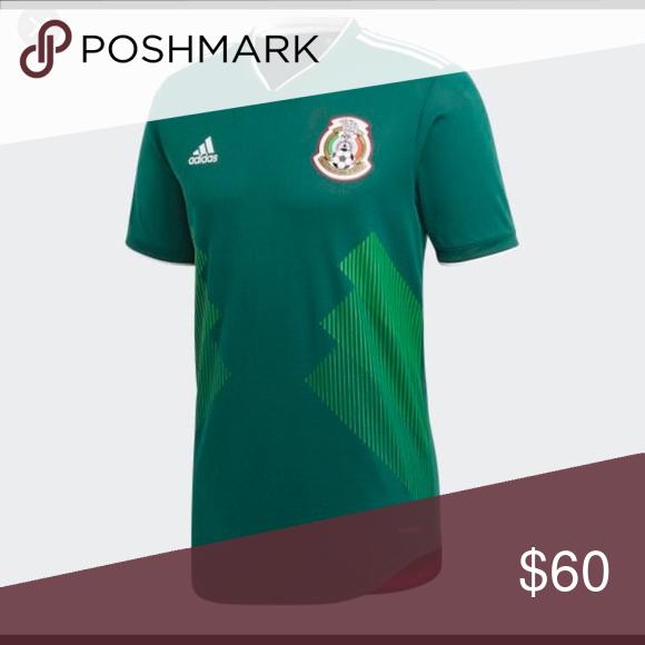 5fd936fa58605 Mexico official jersey playera Green verde Mexico official jersey playera  Green verde adidas Tops Tees - Short Sleeve