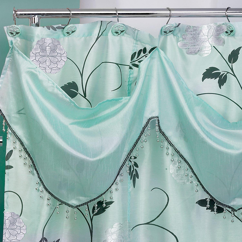 Popular Bath Products Avanti Aqua 6x6 Shower Curtain W Val Green