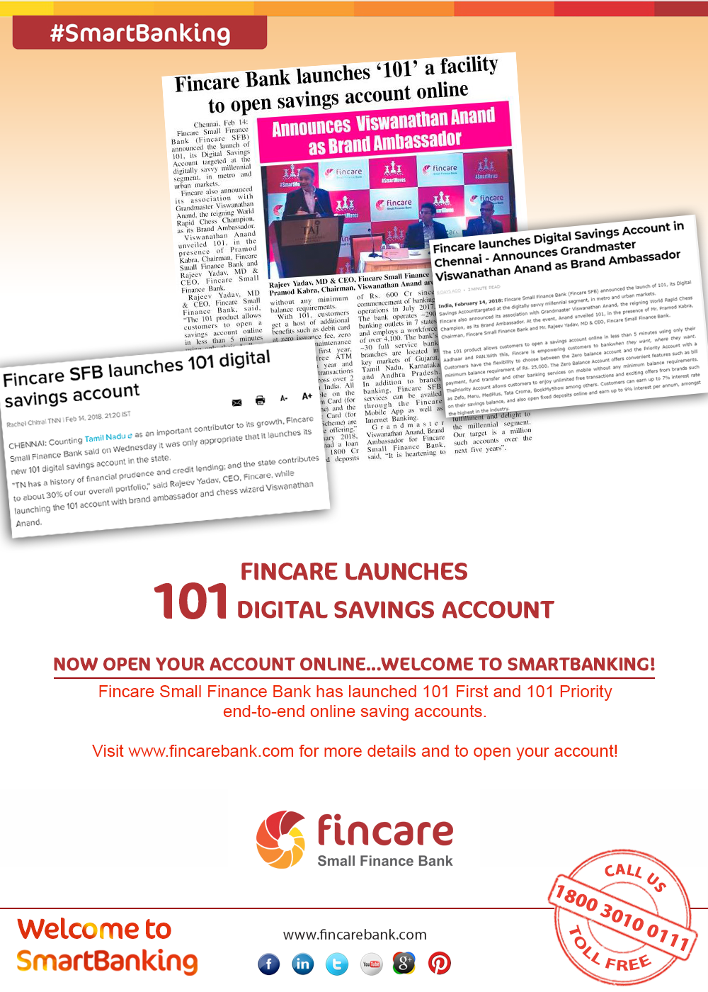 Fincare101 FINCARE LAUNCHES 101 DIGITAL SAVINGS ACCOUNT  Now Open