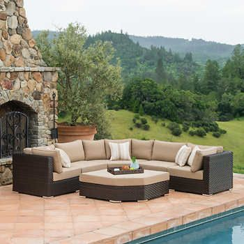 Highland 6 Piece Deep Seating Set In 2020 Patio Furniture Sets