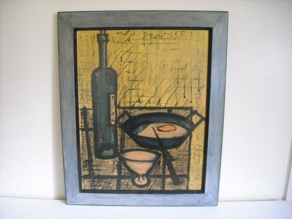 Awesome Bernard Buffet The Breakfast Still Life Framed Signed Litho Home Interior And Landscaping Ologienasavecom