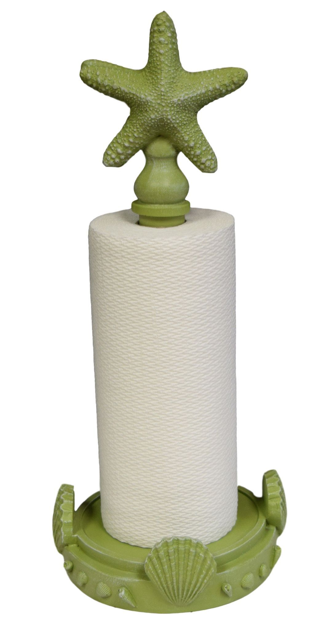 Coastal Paper Towel Holder Amazing Starfish Top Standing Paper Towel Holder In Coastal Green Color Design Decoration