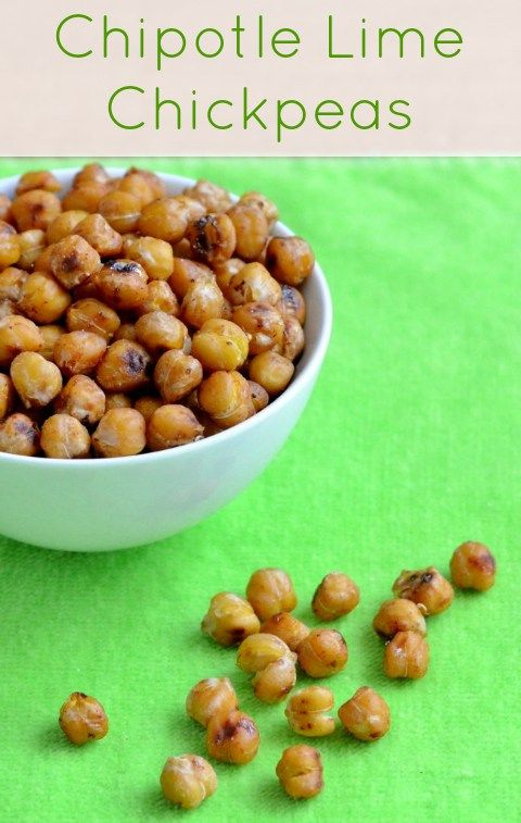 These chipotle lime chickpeas are a healthy, addictive snack. I can't stop eating these whenever I make this recipe!