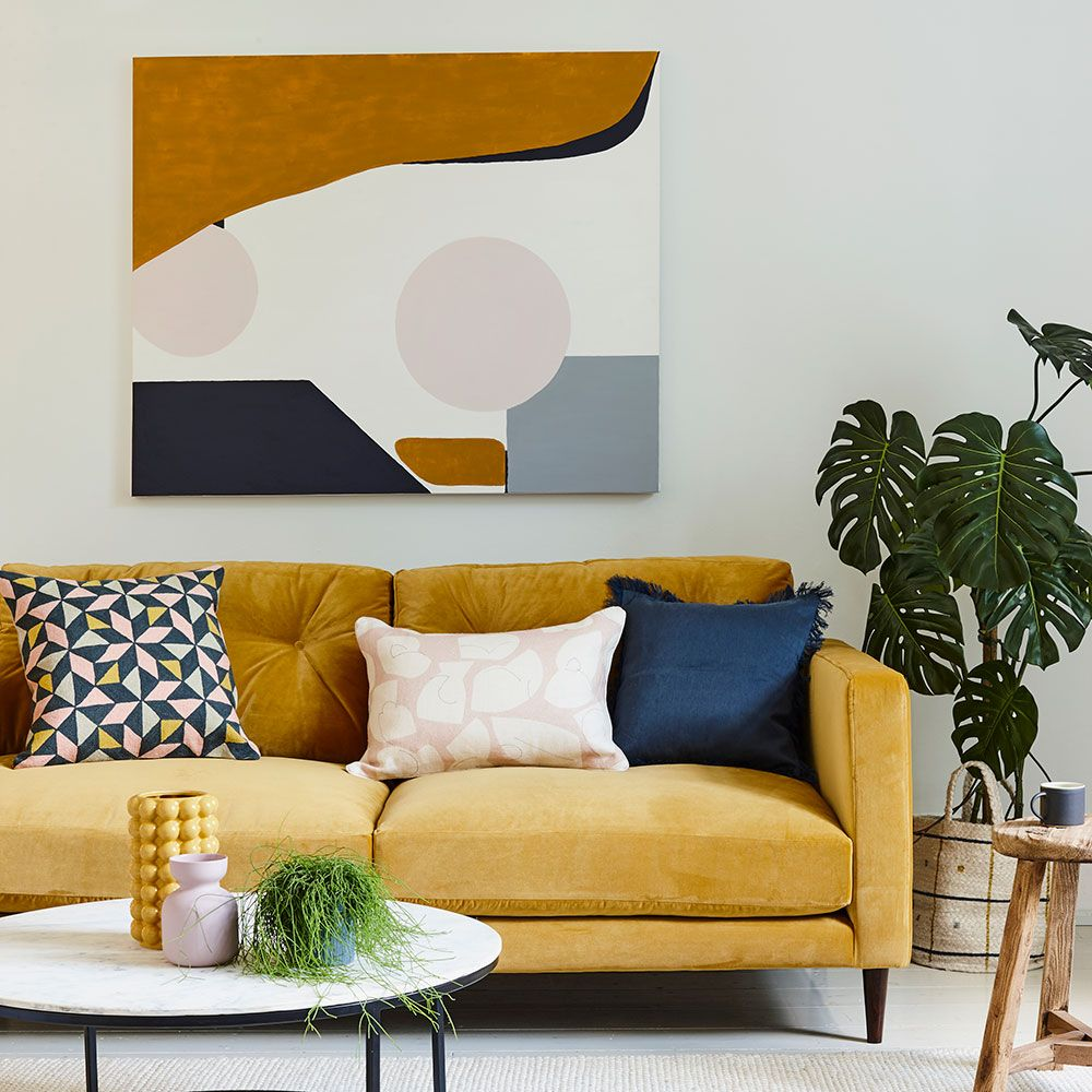 Colours That Go With Grey From Blush Pink To Navy Blue And Ochre Yellow Decor Living Room Living Room Color Schemes Living Room Pictures #navy #grey #and #mustard #living #room