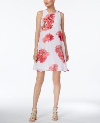 CALVIN KLEIN Calvin Klein Trapeze Dress. #calvinklein #cloth