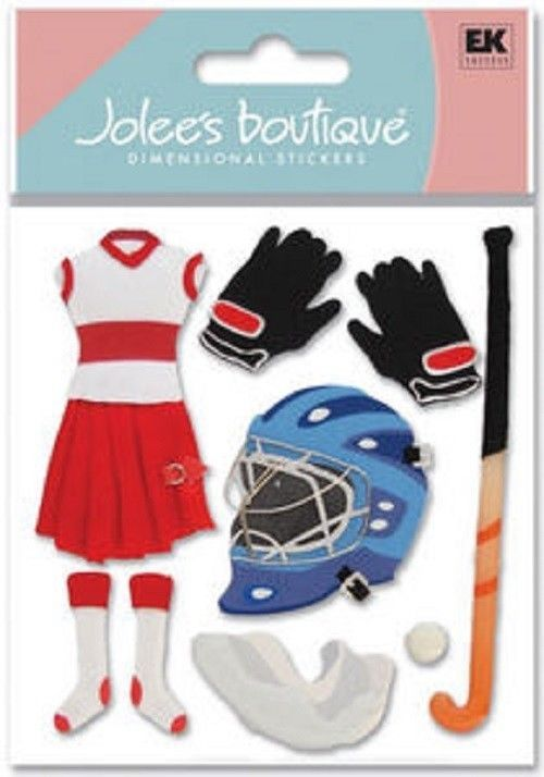 Ek Success Jolee S Boutique 3d Dimensional Stickers Girls Field Hockey Spjb451 Scrapbook Stickers Boutique Scrapbooking Scrapbook