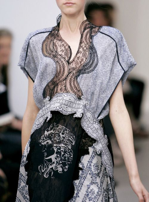 Balenciaga S/S 2006.  I'm not sure if this is a dress or blouse and skirt?  In either case I LOVE it!