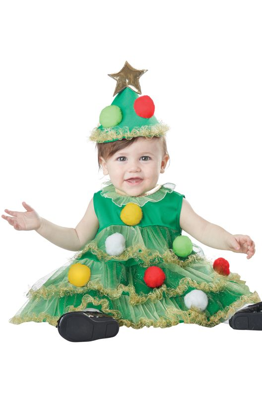 Lil Christmas Tree Infant Costume Tree Costume Christmas Tree Costume Toddler Christmas Outfit