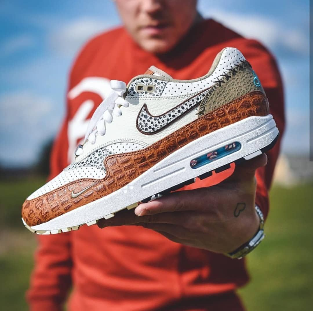 Nike Air Max 1 Bespoke Animal Milkshake Safari