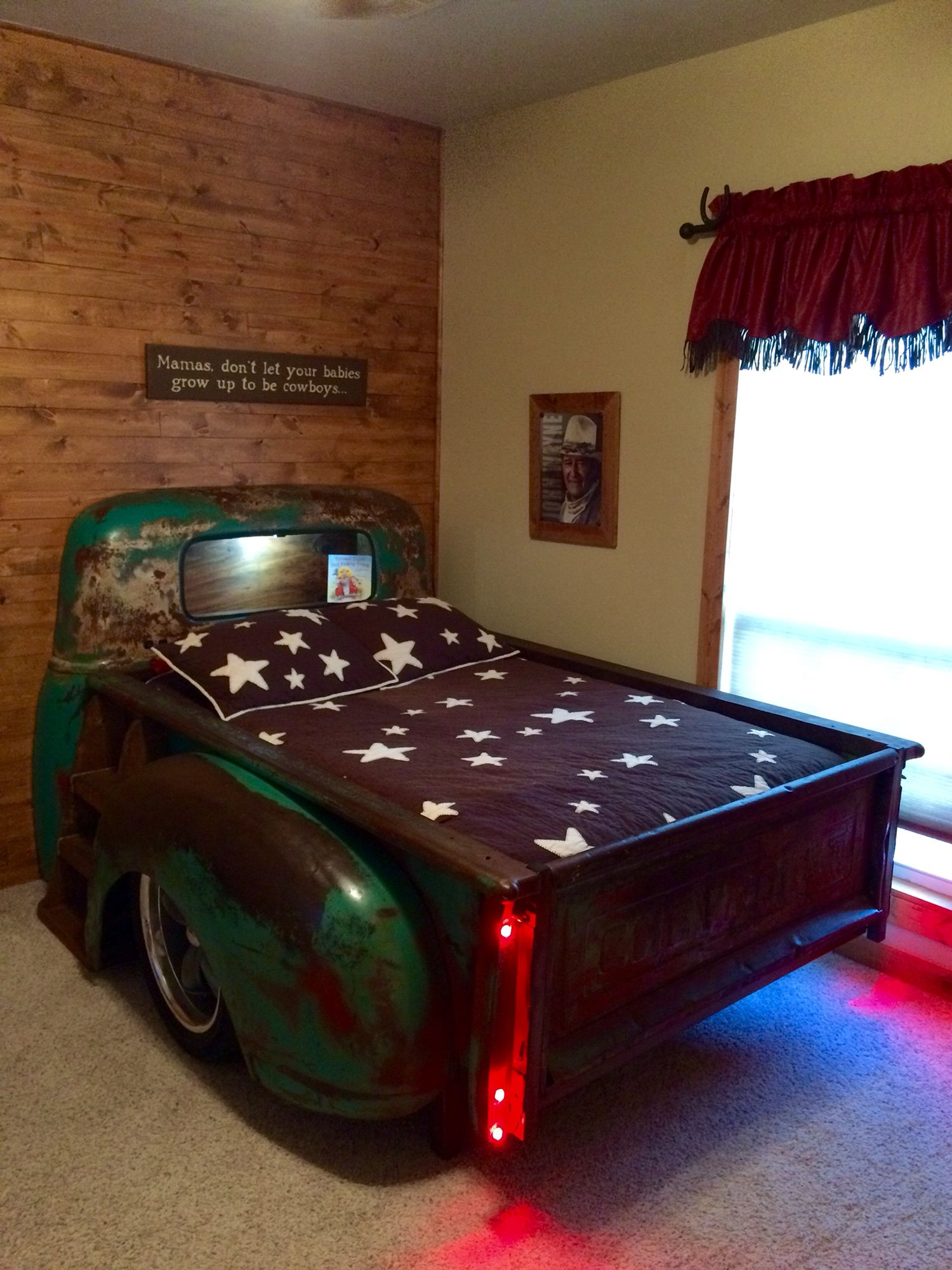 Chevy truck bed. Modified the bed to fit a full size