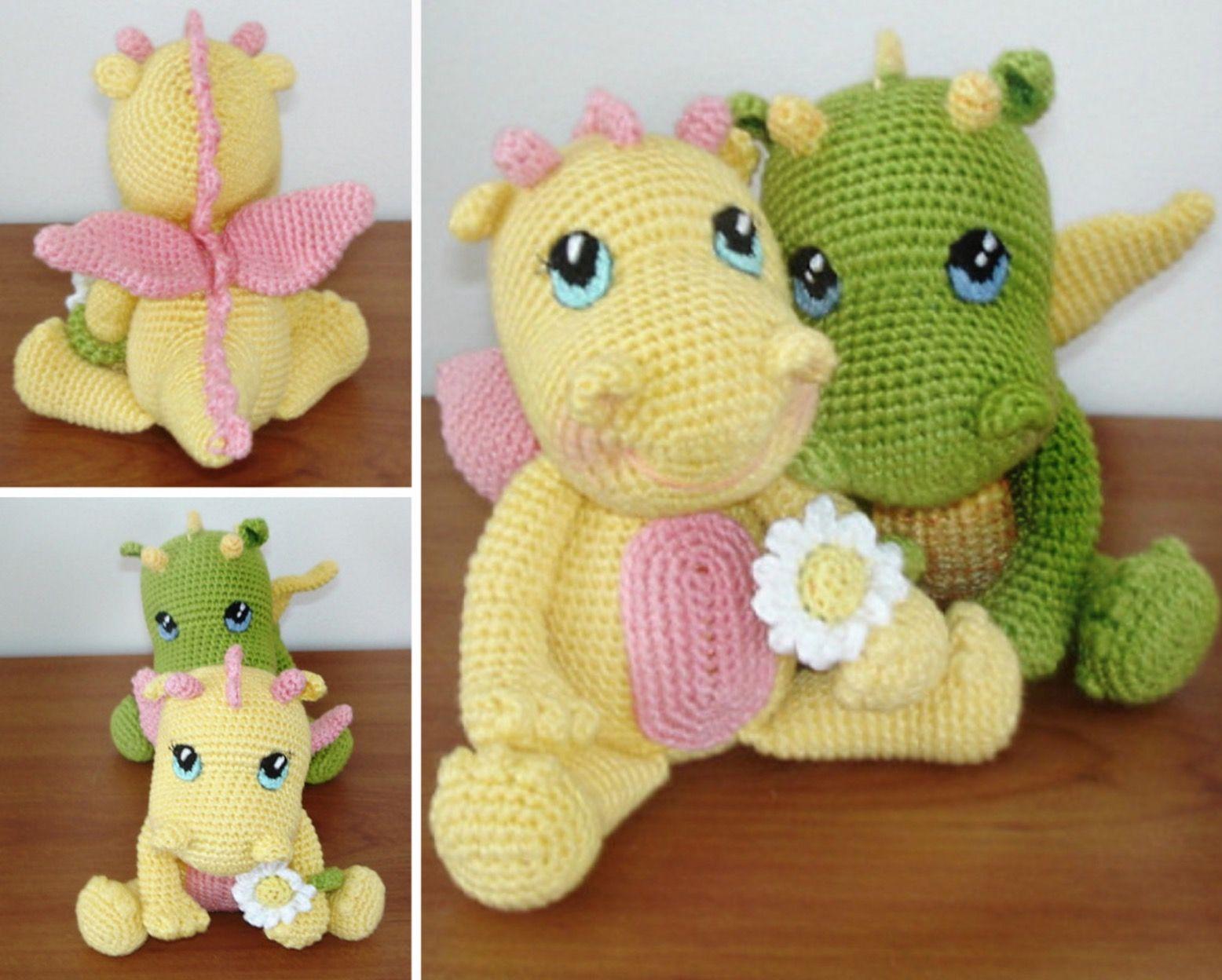Amigurumi Baby Dragon Crochet Pattern | Pinterest