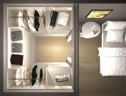 dressing implantation en u closet amenagement. Black Bedroom Furniture Sets. Home Design Ideas