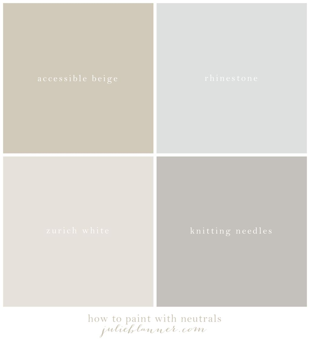 Neutral Paint Colors For Living Room Our Neutral Paint Palette Neutral Paint Colors Benjamin Moore