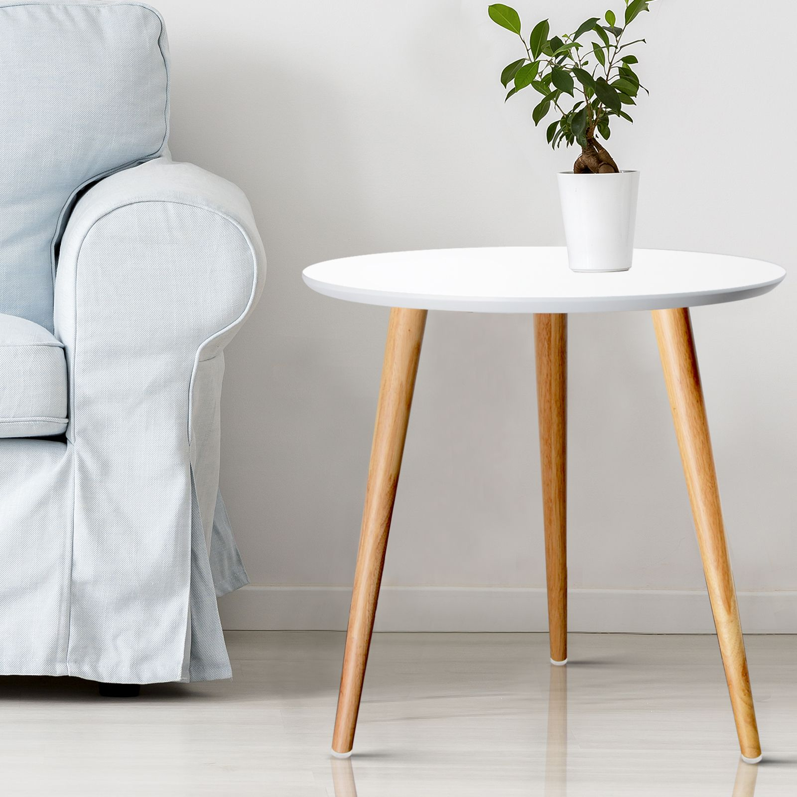 Artiss Coffee Table Round Side End Tables Bedside Furniture Wooden Modern In 2020 Coffee Table Scandinavian Coffee Table Coffee Table White [ 1600 x 1600 Pixel ]