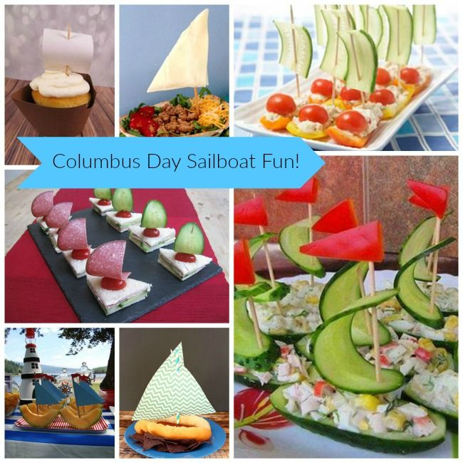 Sailboat Foods For Columbus Day B Lovely Events Columbus Food Columbus Day Happy Columbus Day