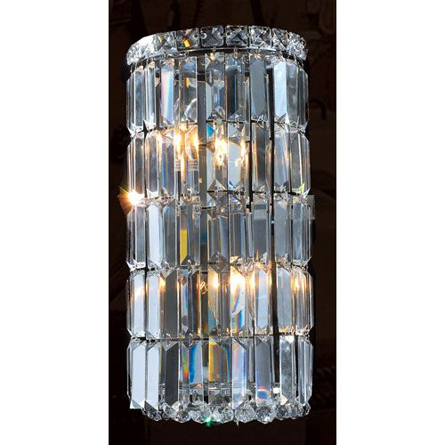 Cascade four light chrome finish with clear crystal wall sconce cascade four light chrome finish with clear crystal wall sconce mozeypictures Images