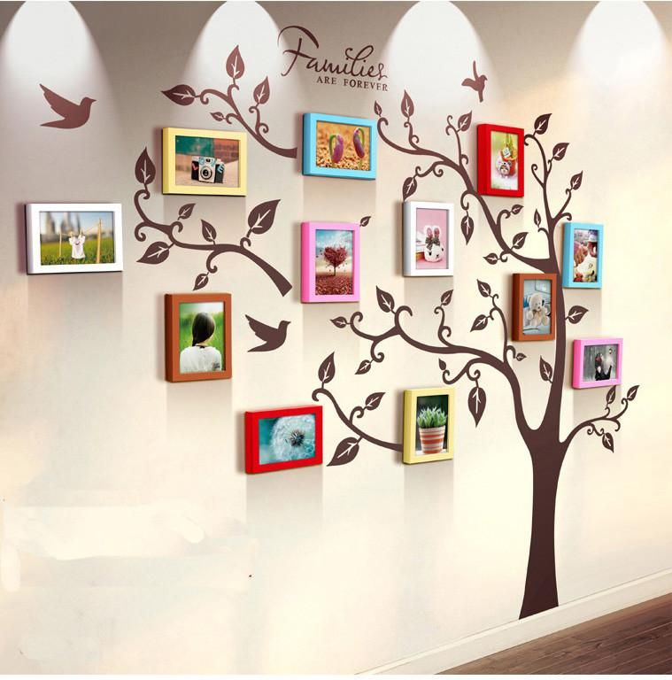 Unique family tree photo frame and decal   Family tree photo, Family ...