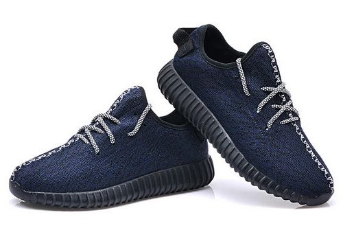Mens Adidas Yeezy Boost 350 Low Kanye West Dark Blue Factory Outlet