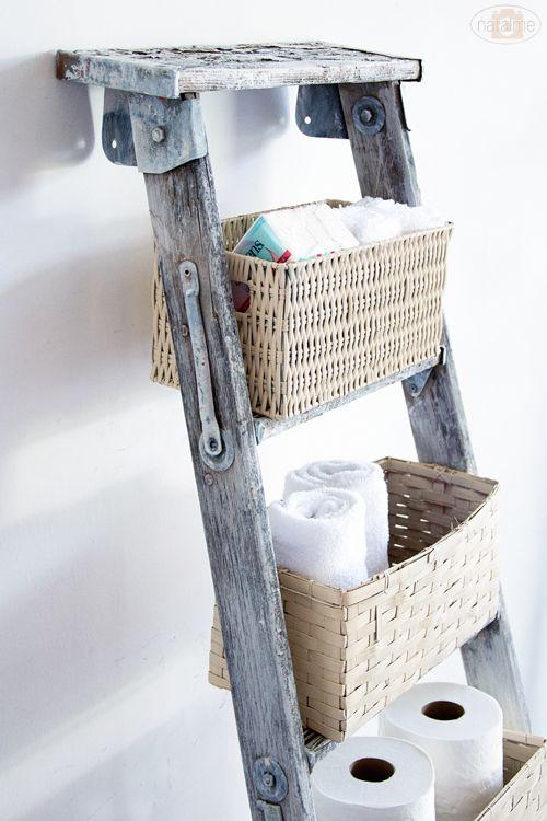 wie cool aus einer alten leiter gemacht aus alt mach neu pinterest haus ideen und m bel. Black Bedroom Furniture Sets. Home Design Ideas